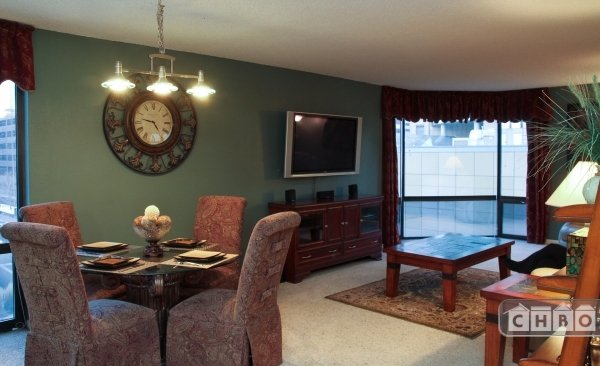 Main Living Area With HDTV, Stereo, DVD Player