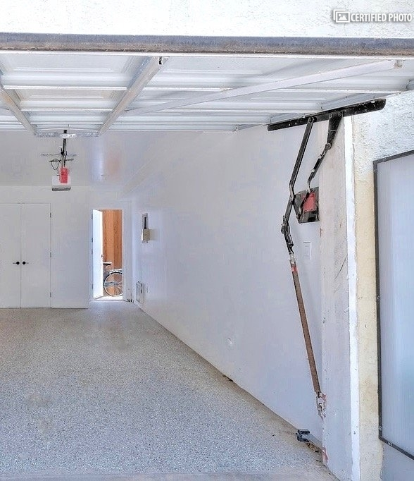 A private one car garage for parking is included.
