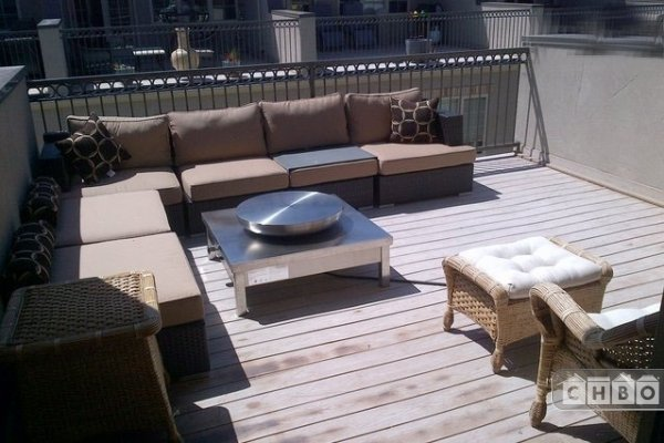 Fire Pit and Deck