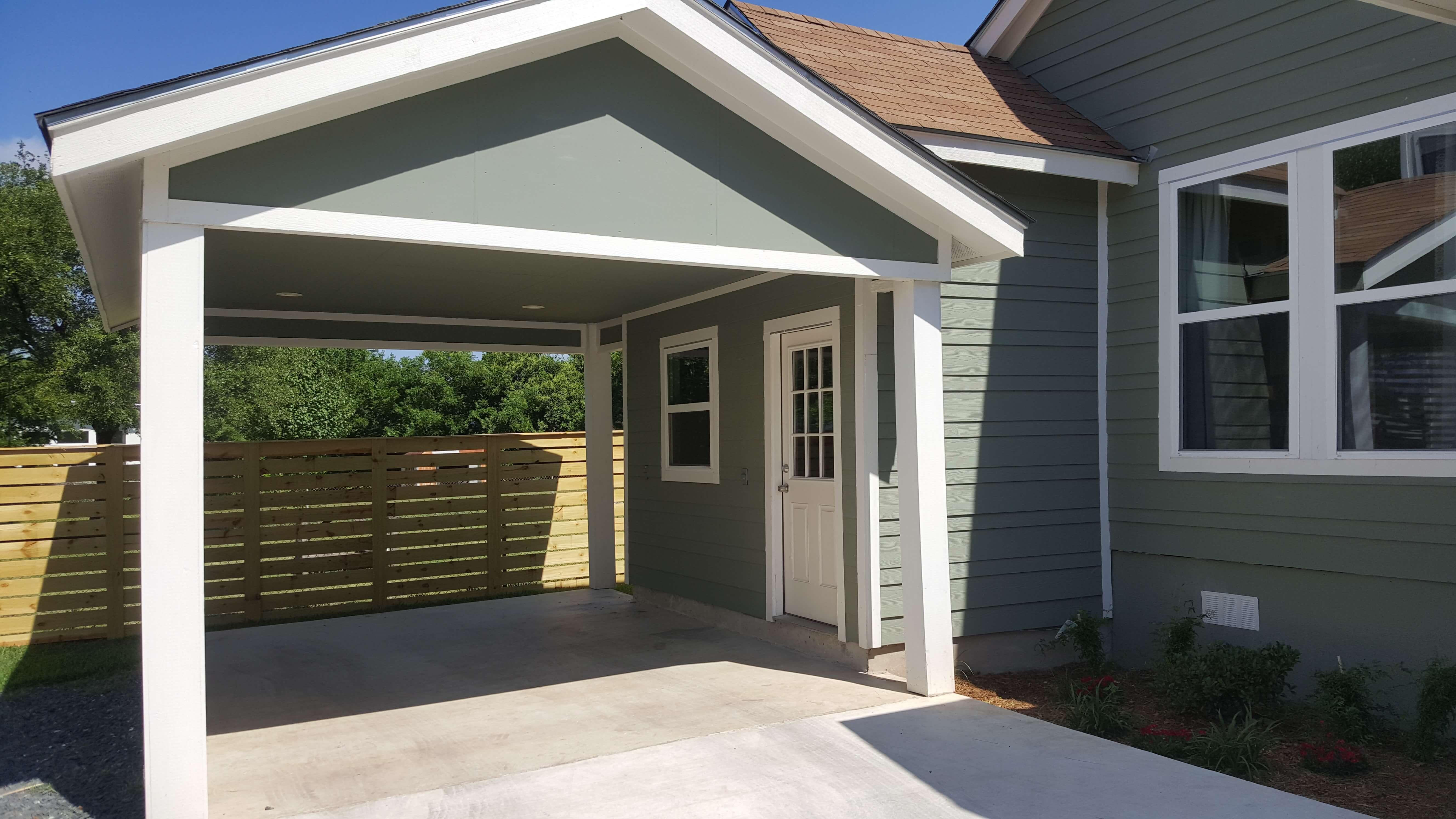 Carport and Side Door