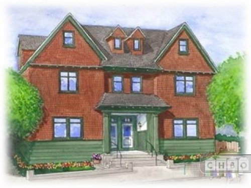 Artist rendition of the 2 town homes.