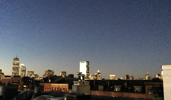 Twilight view of the Cityscape from your private roof deck