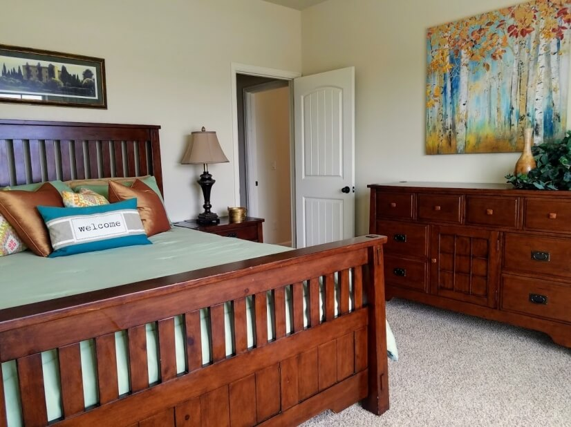 Beautiful Craftsman Style bedroom set in the