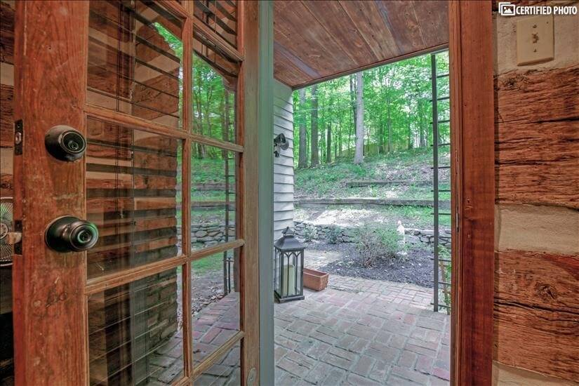 Private outside Master door leading to garden