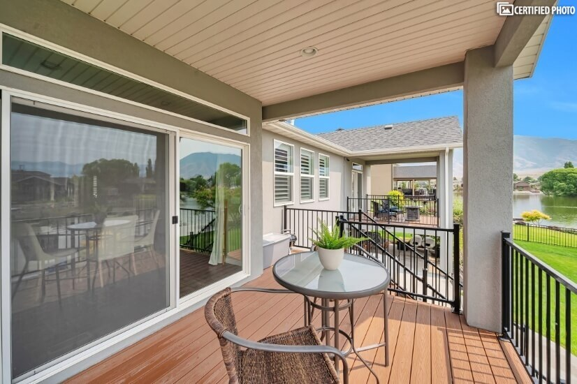 Main Floor Deck From Dining Room with Table & Chairs