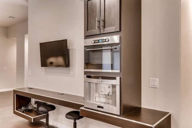 Built-in microwave and coffee maker