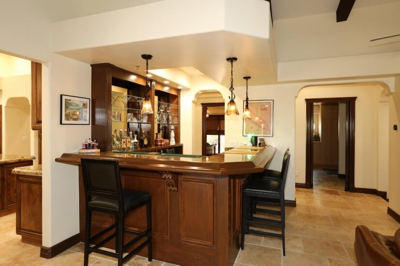 Walk in bar area located in family room