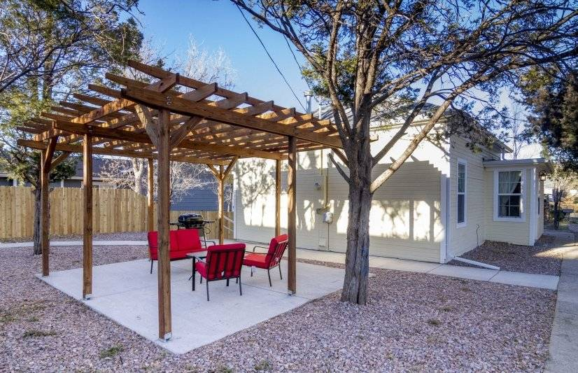 Outdoor area with outdoor furniture and grill
