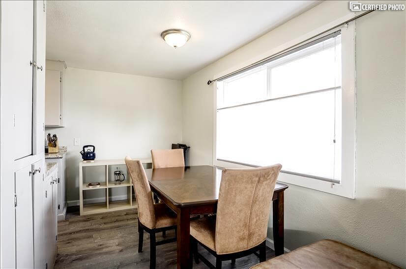 Share Meals in this Sunny Dining Room
