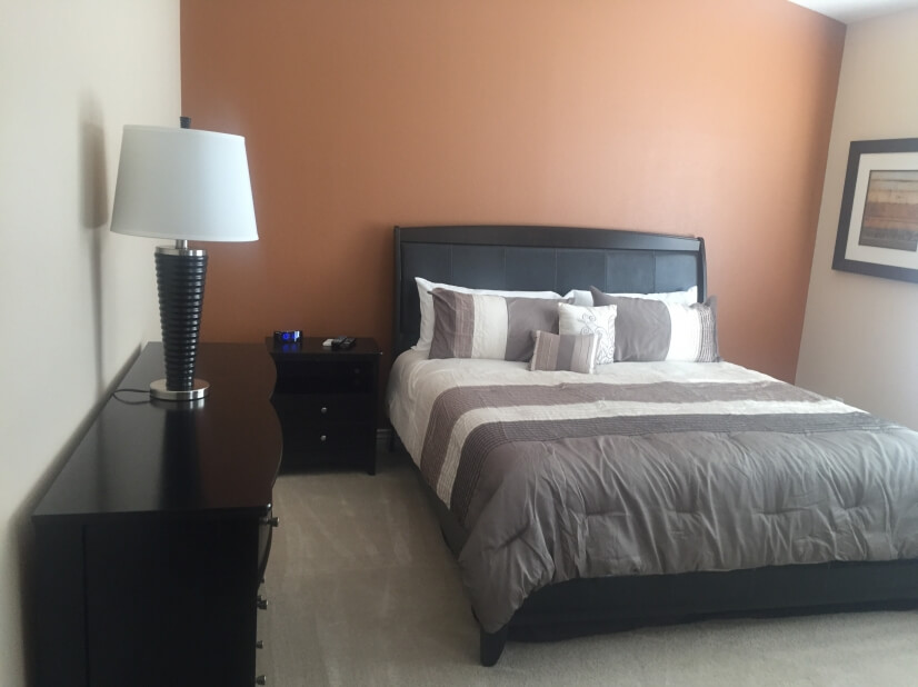 Master bedroom with king size bed, free cable tv and WiFi