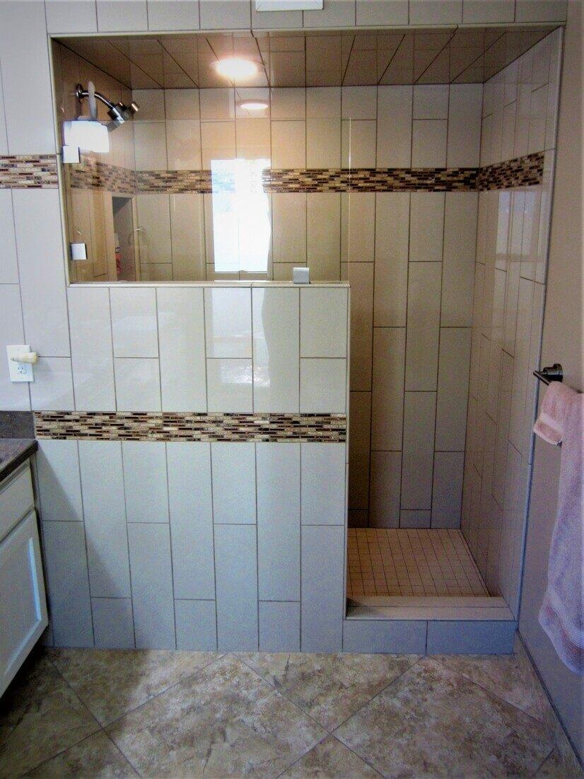 Walk-in Shower in Master Bathrom