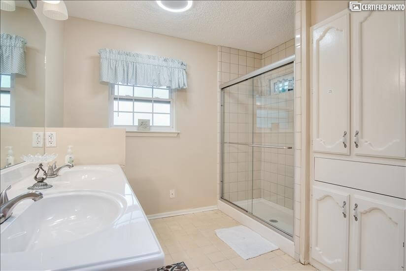Master bathroom private bath