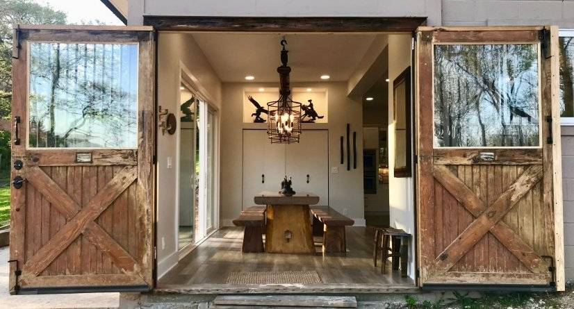 Original KY horse barn doors  and 10' farm table .