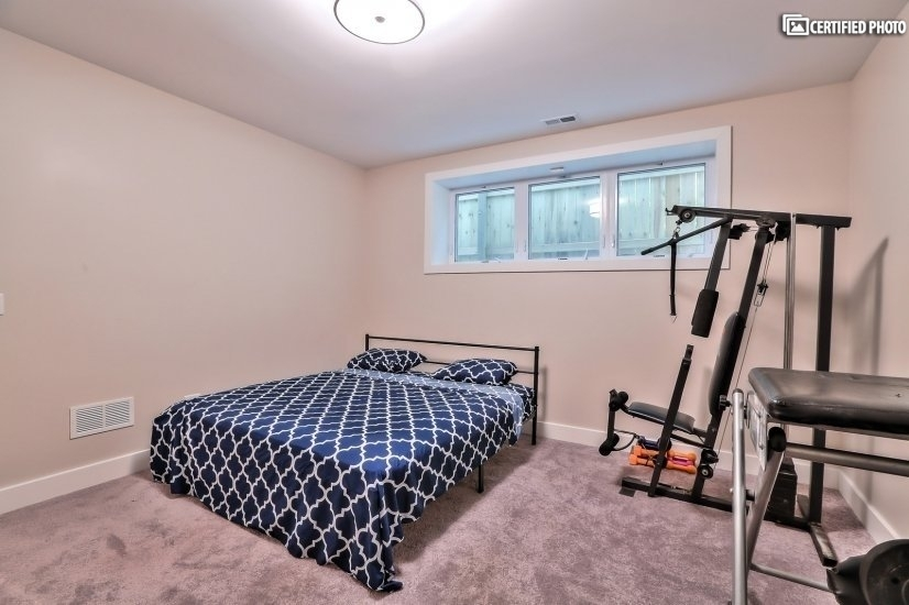 Lower level Bedroom and Exercise Room
