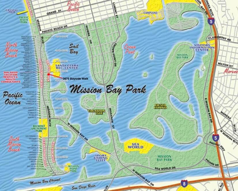 Map of Mission Bay - 3 blocks from house
