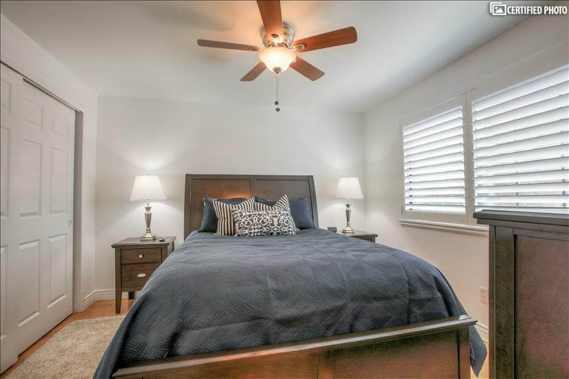 Open Master bedroom with a great deal of closet space