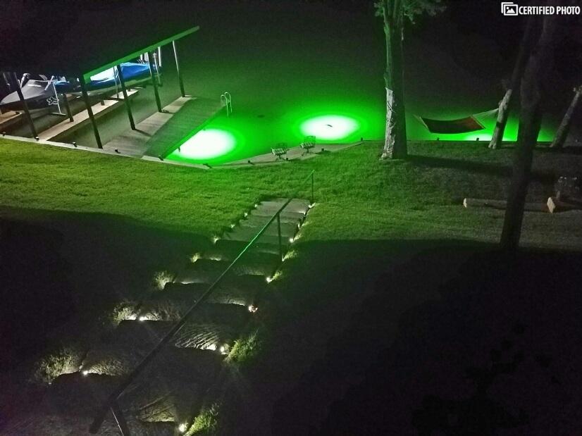 Green fishing lights.