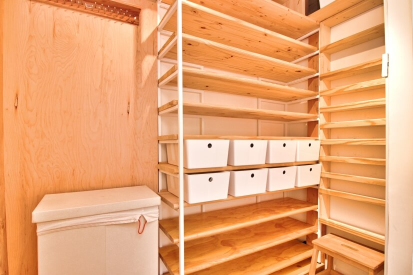 Large walk-in closet to store & organize all your belongings