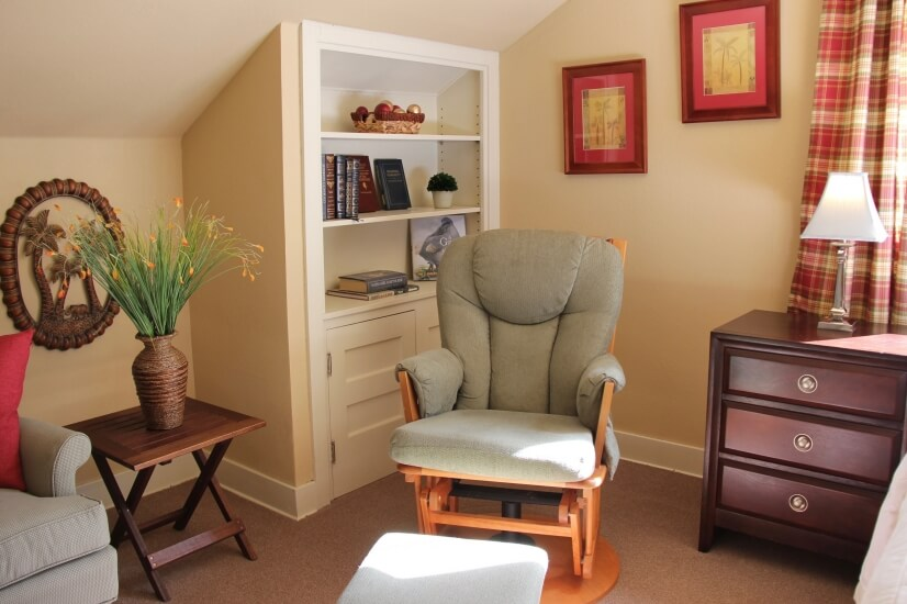 reading nook in master suite