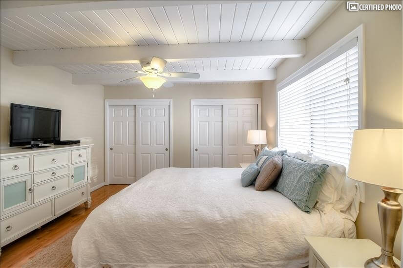 master bedroom with own cable TV