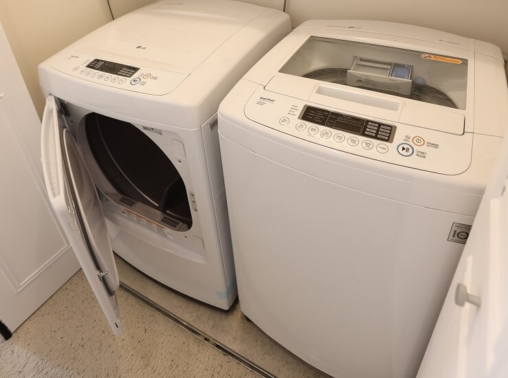 Your own full-size LG washer and dryer.