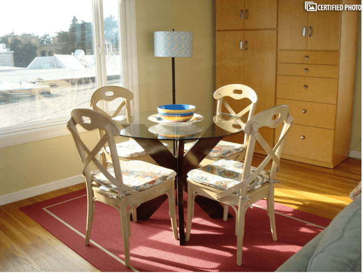 Dining Table and Chairs in Living Area