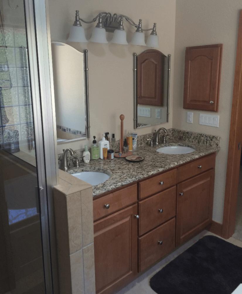 Master Bathroom Main Level Dual Sinks