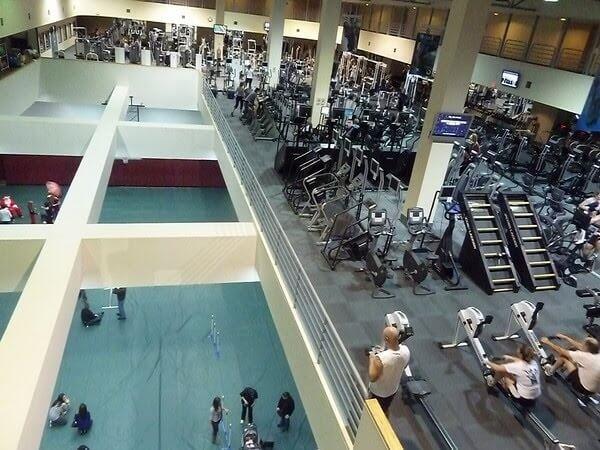 Floor/court area of sports club