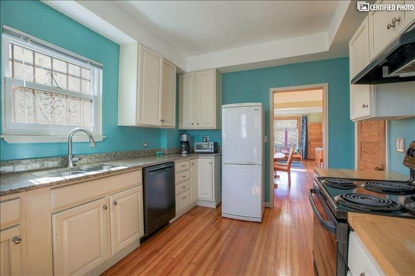 Kitchen with view to front