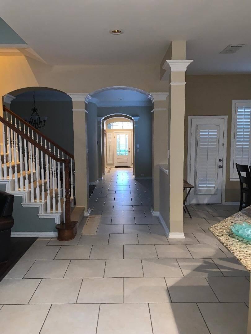 Hallway looking toward the front door