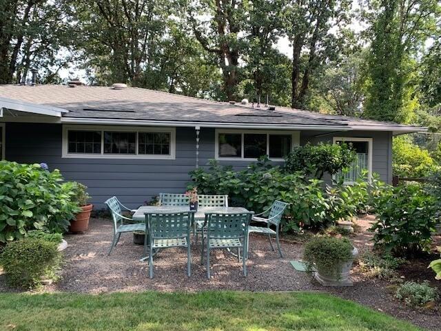 Backyard open-air dining area