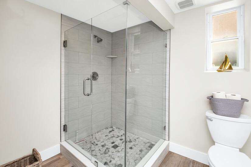 Downstairs Oversized shower