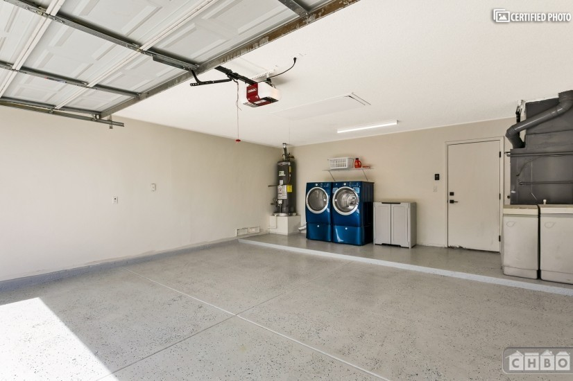 Epoxy Two Car Garage