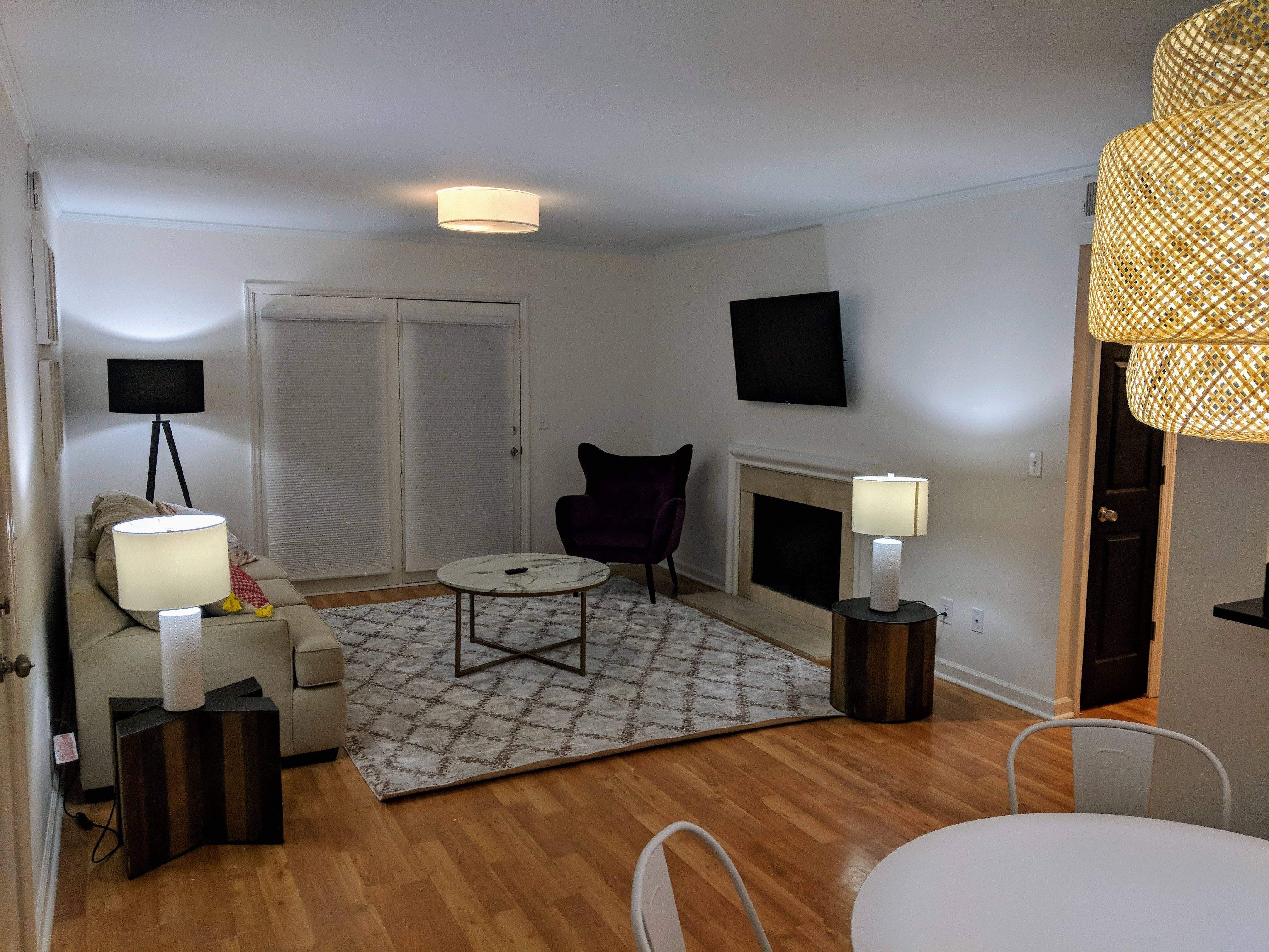Open floorplan with tv included