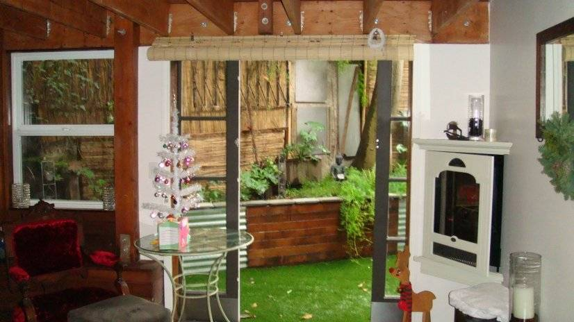 Sliding doors that lead to private garden