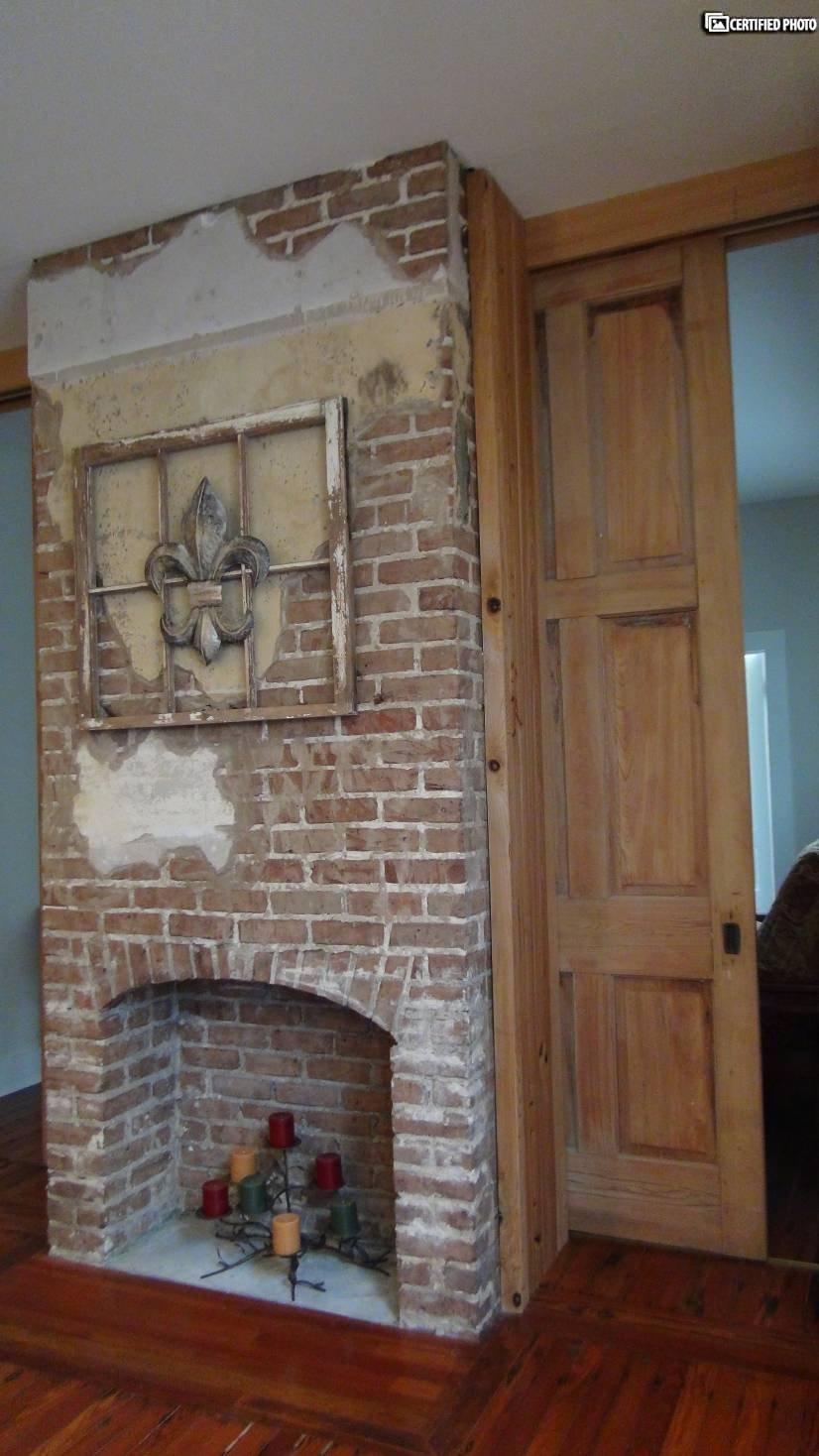 Kitchen original fireplace