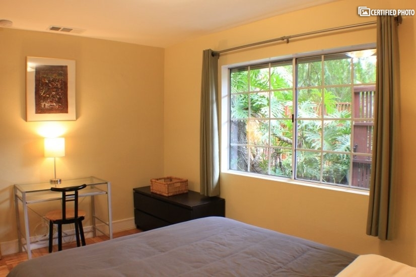 Bedroom 1 with desk