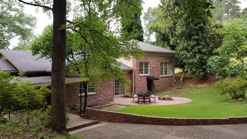 Backyard from back paved area