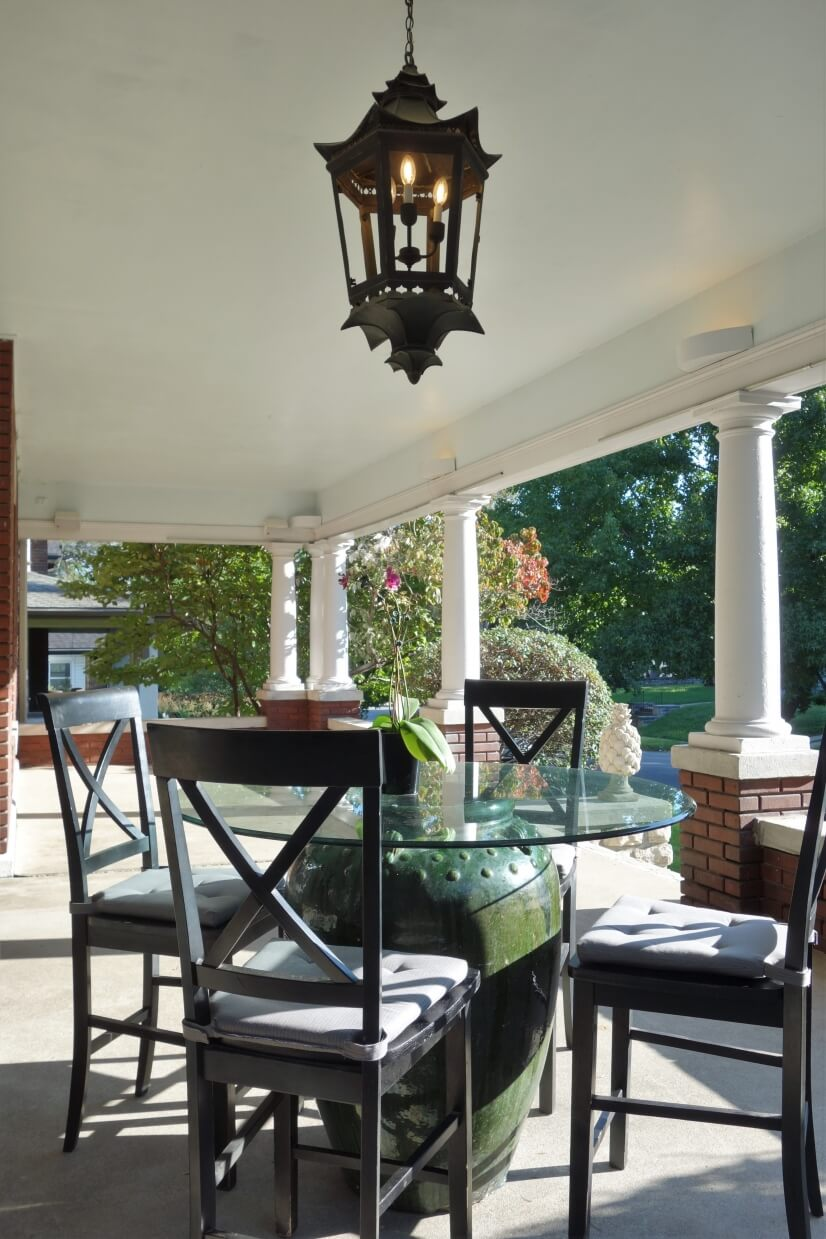 View of Front Porch Breakfast Area Facing East