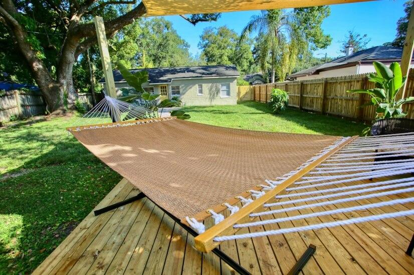 Enjoy an iced tea or a nap in the hammock