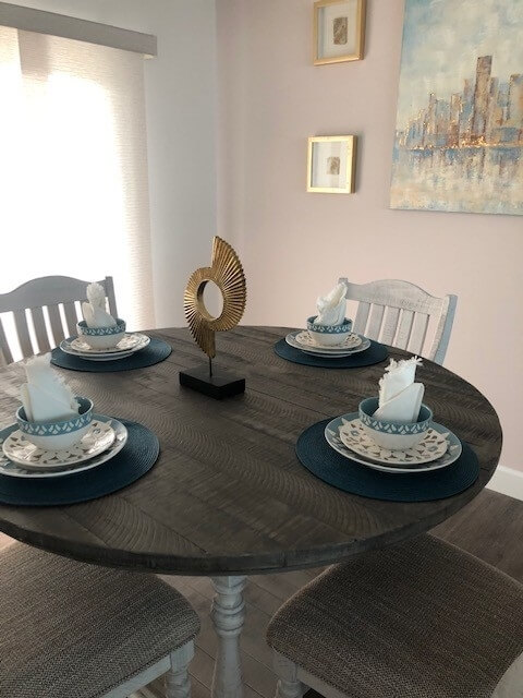 Each home has a unique dining area