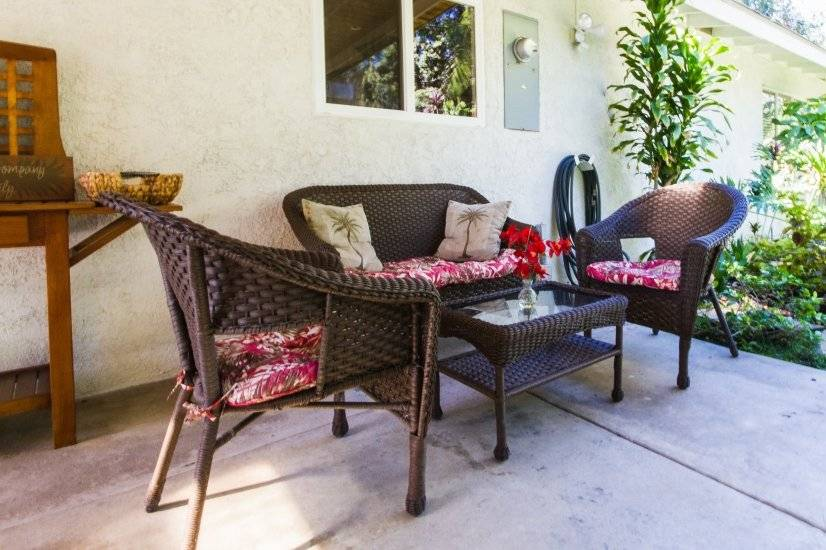 Patio seating, perfect for morning coffee or afternoon tea