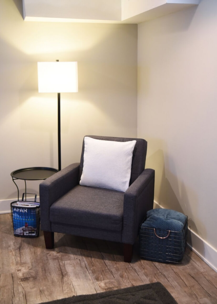 Reading nook in living room