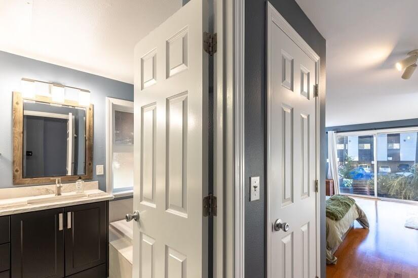 Master Bath and Bedroom entrance
