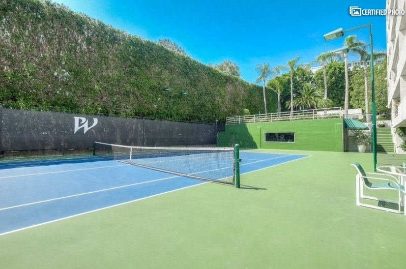 Private tennis court available