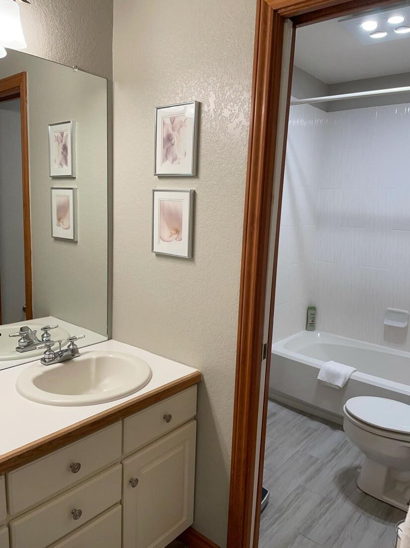 Second floor Jack and Jill bathroom