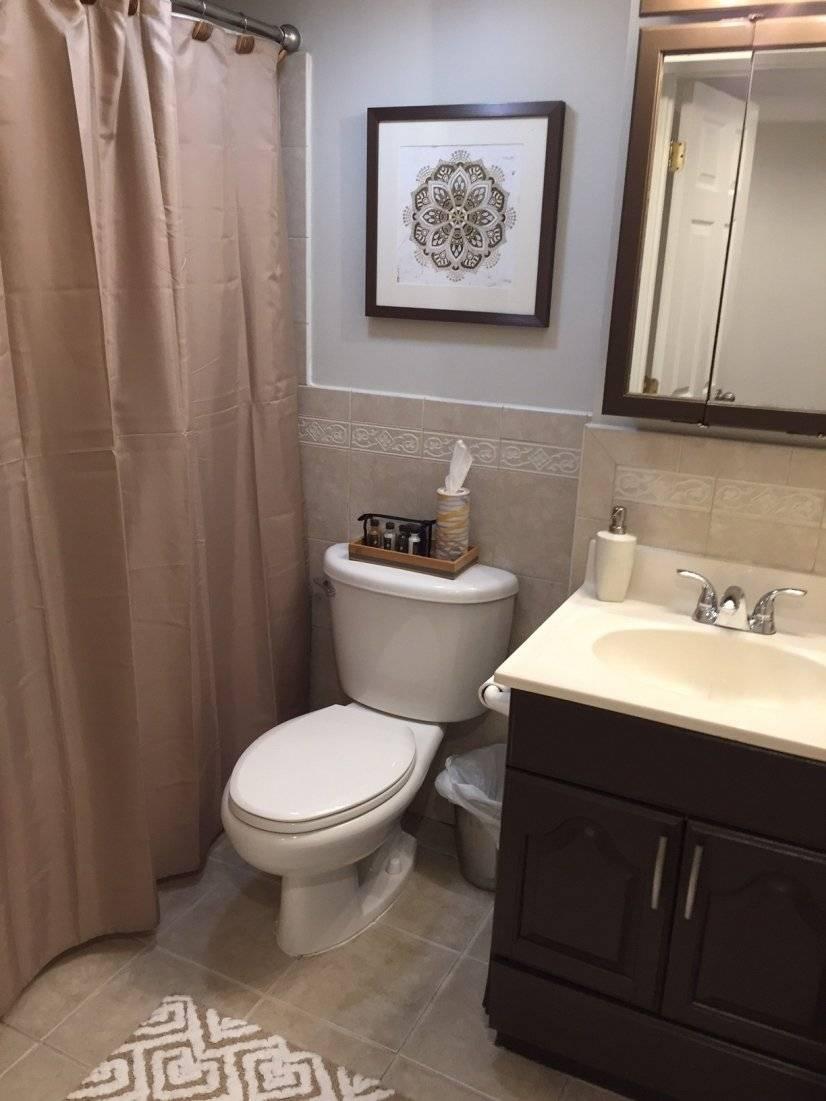 Full bathroom on basement level