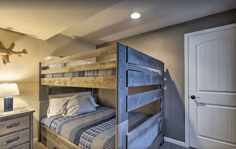 The bunk beds are sweet!