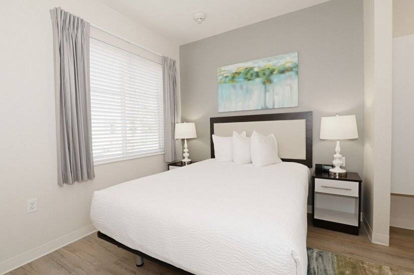 Relax in the comfortable queen bed.