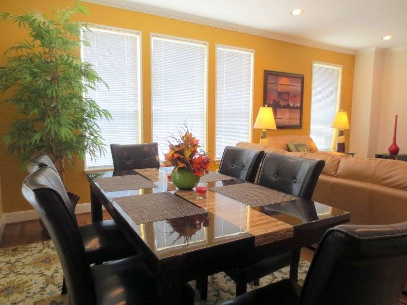 Dining to living area.